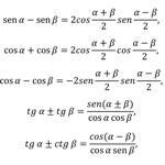 Fórmulas fundamentales de la trigonometria
