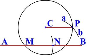 Через данную точку провести прямую, параллельную данной прямой
