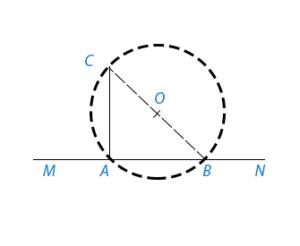 Восстановить перпендикуляр к прямой MN в данной ее точке А