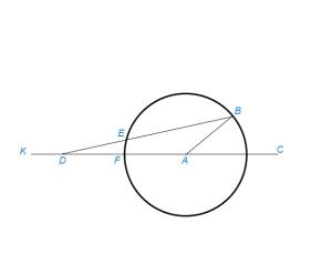 Разделить данный угол на три равные части