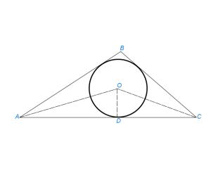 Вписать окружность в данный треугольник