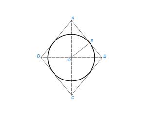 Вписать окружность в ромб (или квадрат)