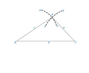 Построить треугольник по трем сторонам