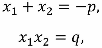 Соотношения для квадратного трехчлена